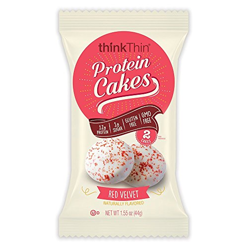 thinkThin Protein Cakes, Red Velvet, 2 Cakes per 1.55 oz Package (9 Packages)