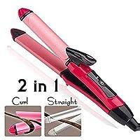 REBORN Essential 2 in 1 Hair Straightener and Curler (Pink)