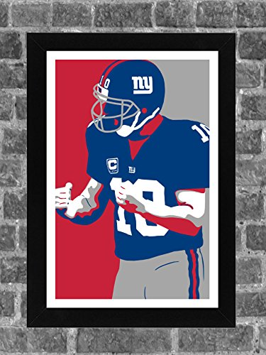 New York Giants Eli Manning Portrait Sports Print Art 11x17