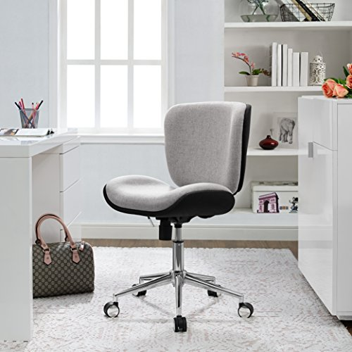 Serta Style Haylie Office Chair, Heather/Charcoal Charm ()