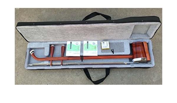 Instrumento tradicional chino Yunzhi de dos cuerdas erhu con accesorios. Hecho de palisandro: Amazon.es: Instrumentos musicales