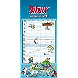 Asterix Familienplaner 2018 - Wandkalender - Familienkalender mit 6 Spalten und Ausmalbildern - Format 21 x 45 cm