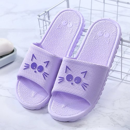 Purple Men's 38 Bottom Striped and Non Soft Couples G Baths Female 37 There Home Cold Slippers Slip Shoes fankou Slippers Summer Indoor qp1HA1