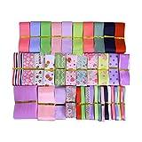 39pcs XUKE 39yd Assorted Grosgrain Ribbon Bundle for Gift Wrap Craft,Scrapbooking,Wedding Decr