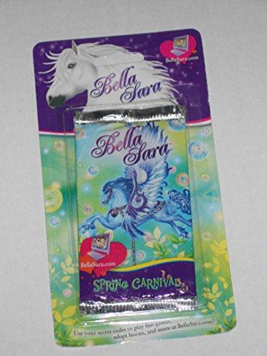 Bella Sara Spring Carnival Trading Card Pack in Blister Card Packaging