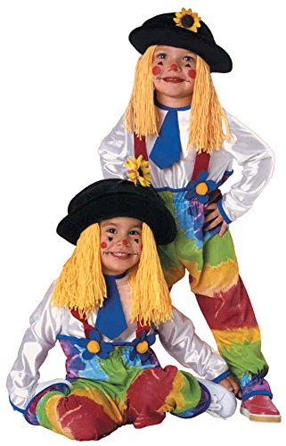 UHC Colorful Clown Yarn Baby Toddler Kids Fancy Dress Halloween Costume, Child S (4-6) (Clown Outfit For Kids)