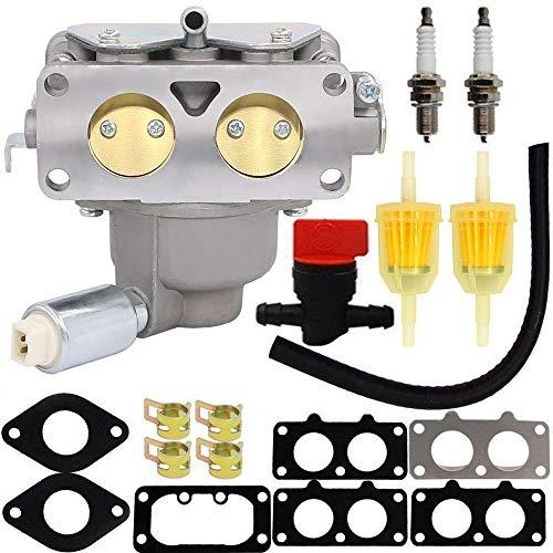 Photo HOOAI 799230 Carburetor for John Deere L111 L118 L120 LA120 LA130 LA135 LA140 LA145 LA150 Briggs & Stratton 791230 699709 499804 Toro Carburetor - John Deere LA145 Carburetor (799230)