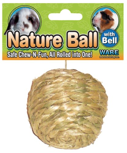 Ware Manufacturing All Natural Sisal Ball Toy for Small Pets, Medium