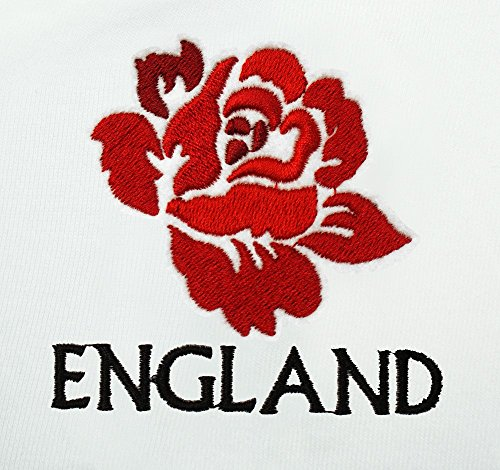 de bordado rosa gorro invierno Inglaterra Rugby Unisex blanco Vintage Adulto XEwUPg