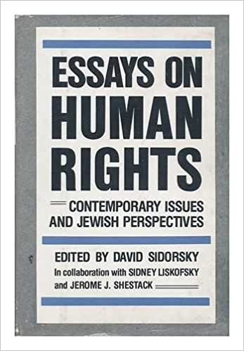 English Essays Topics Essays On Human Rights Contemporary Issues And Jewish Perspectives David  Liskofsky Sidney And Jerome J Shestack Sidorsky   Amazoncom  Example Essay Thesis Statement also How To Write A Thesis Essay Essays On Human Rights Contemporary Issues And Jewish Perspectives  Poverty Essay Thesis