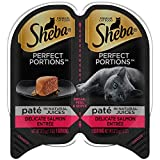 Sheba Perfect Portions Wet Cat Food Paté In Natural Juices Signature Delicate Salmon Entrée, (24) 2.6 Oz. Twin-Pack Trays