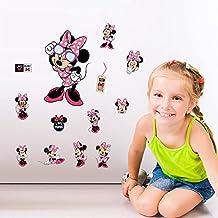 Fangeplus(TM) Disney Minnie Mouse Classic DIY Removable Art Mural Vinyl Waterproof Wall Stickers Kids Room Decor Nursery Decal Sticker Wallpaper 11.8''x7.8''