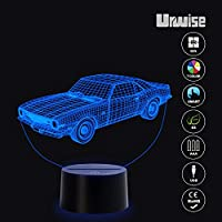 A Generation of American Spirit Representatives - Muscle Car 3D Optical Illusion Night Lights, 7 Color Smart Touch Button, USB or AAA Battery, Amazing Creative Art Design for Children's Love it by Urwise
