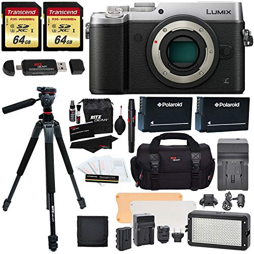 Panasonic DMC-GX8SBODY LUMIX GX8 Interchangeable Lens DSLM Camera Body Only + Transcend 64 GB 2 Pack + Ritz Gear 60″ Tripod + LED Light Flash Kit + 2 Spare Batteries + Charger + Accessory Kit Review