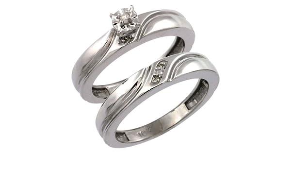 4mm Size 10.5 w// 0.03 Carat Brilliant Cut Diamonds 5//32 in. wide Sterling Silver Mens Diamond Band
