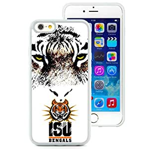 Beautiful And Popular Designed With NCAA Big Sky Conference Football Idaho State Bengals 2 Protective Cell Phone Hardshell Cover Case For iPhone 6 4.7 Inch TPU Phone Case White