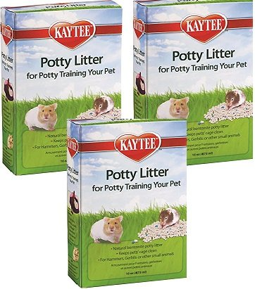 (3 Pack) Kaytee Small Animal Potty Training Litter, 16 Ounces each