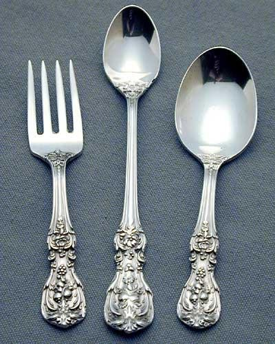 Reed & Barton Francis I Sterling Silver 3 Piece Childs Set