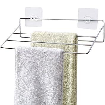 NUANZ Multi Capa rack de toalla, toalla de baño estante de la barra, cuarto