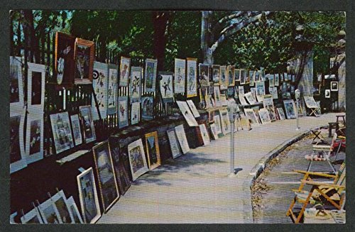 Annual Sidewalk Exhibition Charleston SC postcard 1950s (Charleston Postcards Sc)