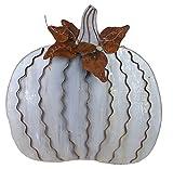 Large Ripple Metal Pumpkin Stake