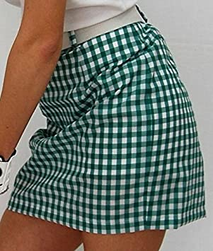 Falda de Golf Cuadros Vichy (Vichy Verde, 38): Amazon.es: Deportes ...
