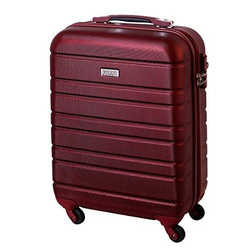 Karry Handgepäck Bordgepäck kabinentrolley Hartschalen Koffer für Kurzreisen Urlaub Reisen Businesskoffer Trolley Case TSA Schloss 30 Liter Burgunder Rot 815 B