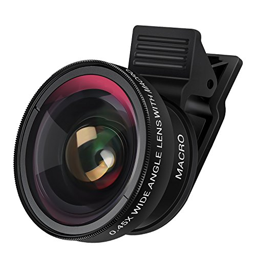 iPhone Camera Lens, Badalink 2 in 1 Cell Phone Camera Lens 160 Degree 0.45X Super Wide Angle Lens, 12.5X Macro Lens for iPhone 8 7 6s 6s plus 6 plus 5s, Most Smartphones & Tablets by Badalink