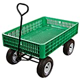 Cheap A.M. Leonard Green Utility Wagon with Flat-Free Tires – 30 x 46 x 7.5 Inch Tray