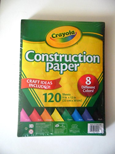 Construction Assorted Paper - Crayola Construction Paper, 8 different colors, 120 Sheets