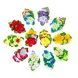 #9: Joylish 12 Pieces Girls Hawaiian Flower Hair Clips - Luau Hair Accessories for Women Tropical Birthday Wedding Party Supplies