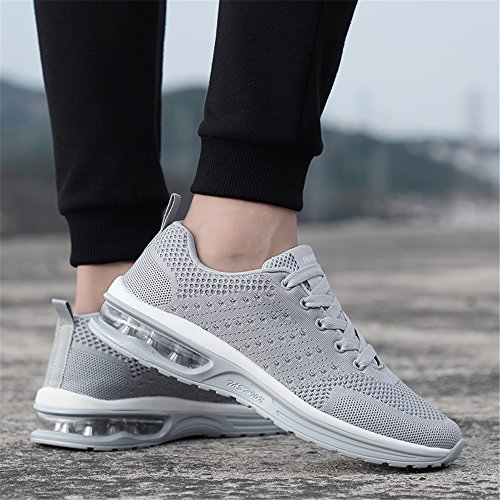 Mode 1 Leicht grey Casual Bequem 35 Frauen Größe für Laufschuhe EU Turnschuhe 47 Mesh Männer und rqZxXr6