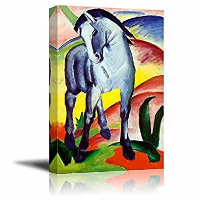 Blue Horse by Franz Marc - Canvas Art