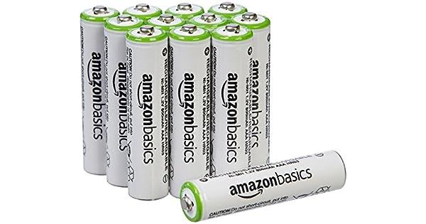 Amazon.com: AmazonBasics AAA Baterías recargables (paquete ...