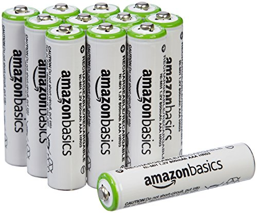 AmazonBasics AAA Rechargeable Batteries (12-Pack) - Packaging May Vary ()