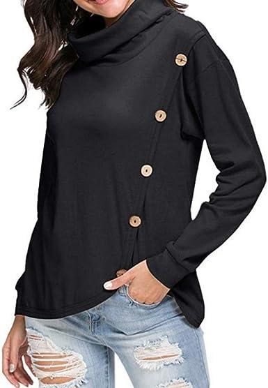 55TY - Camisas - camisa - para mujer Negro Negro (M: Amazon.es: Ropa y accesorios