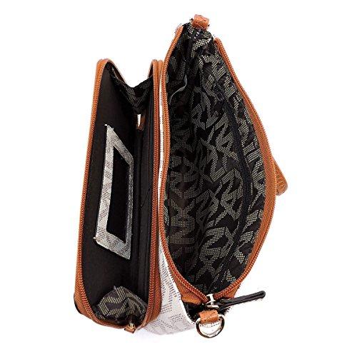Noble Signature Clutch Purse Wristlet JP NX Messenger Exchange Bag Black Crossbody ZwC15WHqS