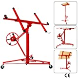Artist Hand Drywall 11' Lift Hoist Panel Jack Lifter Caster Wheel Construction Tool Red