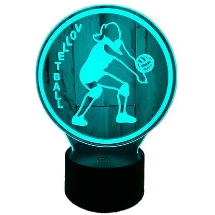 Amazon.com: MINIKATA 3D Optical Illusion LED Desk Lamp, 7 ...