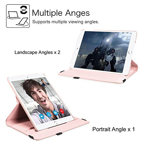 Fintie New iPad 9.7 inch 2017 / iPad Air Case - 360 Degree Rotating Stand Cover with Auto Sleep Wake for Apple New iPad 9.7 inch 2017 Tablet / iPad Air 2013 Model, Rose Gold Photo #4