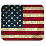 Fashion Mouse Mat USA America Flag Customized Rectangle Mousepad by Mouse Pads