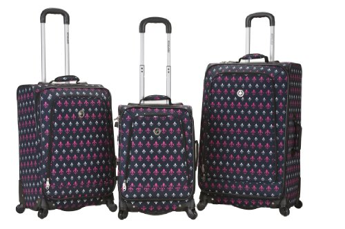Rockland Luggage Fusion 3 Piece Luggage Set, Icon, Medium
