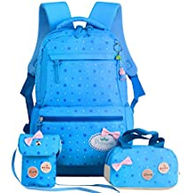 Polka Dot Cute Colorful Kids Backpack Waterproof School Bag for Primary Girls Student