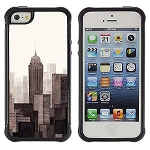 Suave TPU GEL Carcasa Funda Silicona Blando Estuche Caso de protección (para) Apple Iphone 5 / 5S / CECELL Phone case / / Monotone Gray Beige Art Painted /