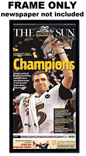 The Baltimore Sun - Baltimore Ravens Newspaper (Baltimore Ravens Picture Frame)
