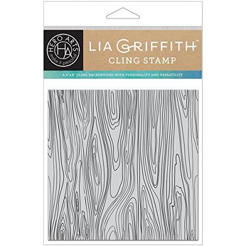 Hero Arts Woodgrain Bold Prints by Lia Background Cling Stamp - Woodgrain Background Stamp