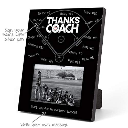ChalkTalkSPORTS Baseball Photo Frame | Coach (Autograph) Picture Frame | Black ()
