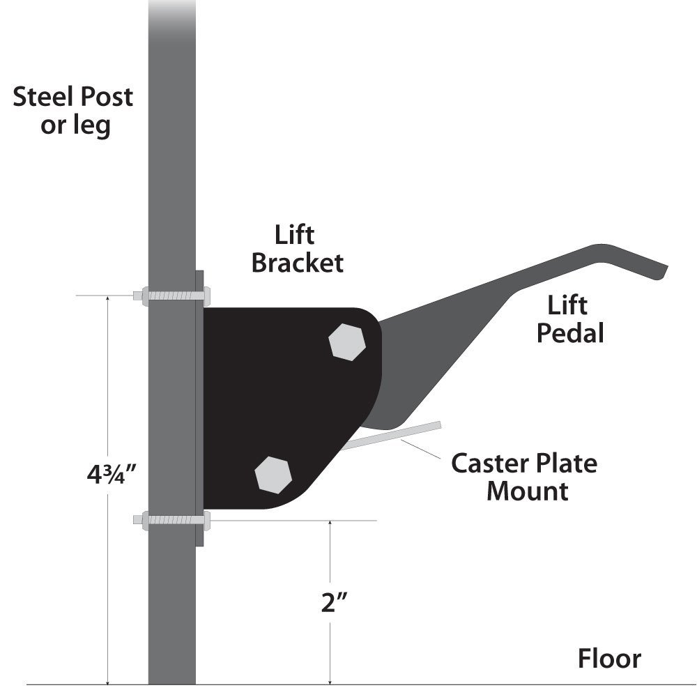 Work Bench Caster Kit ( pack of 4 ) by Fulton (Image #8)