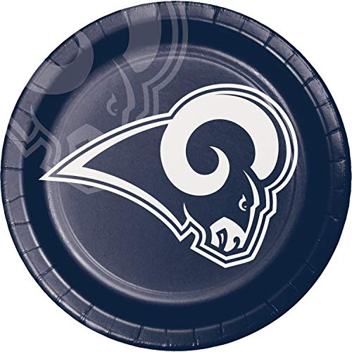 Creative Converting Los Angeles Rams Dinner Plates, 24 ct