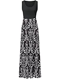 Womens Summer Contrast Sleeveless Tank Top Floral Print...